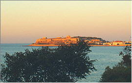 Rethymnon: The fortress with evening light