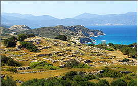 Agios Nicolaos: View from the excavation site of Gournia
